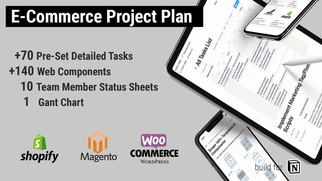 E-Commerce Webshop Project Plan