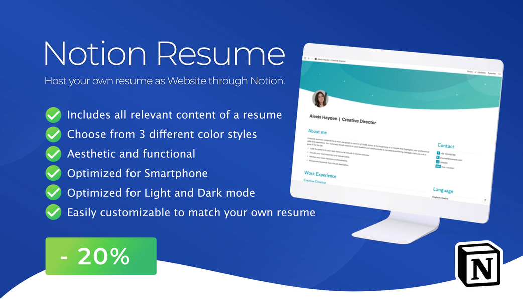 Notion Resume Template