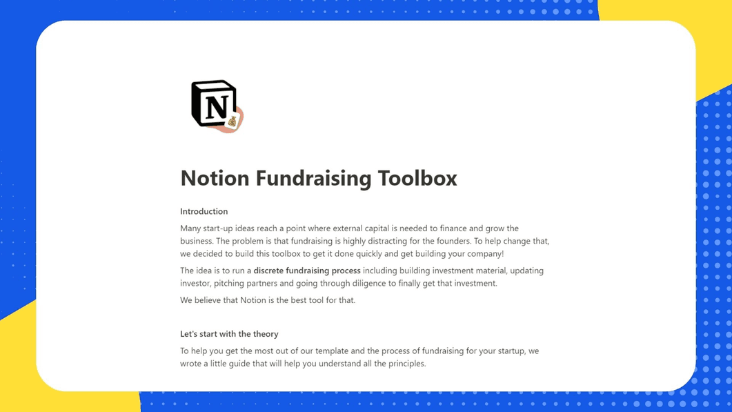 Startup Fundraising Toolbox
