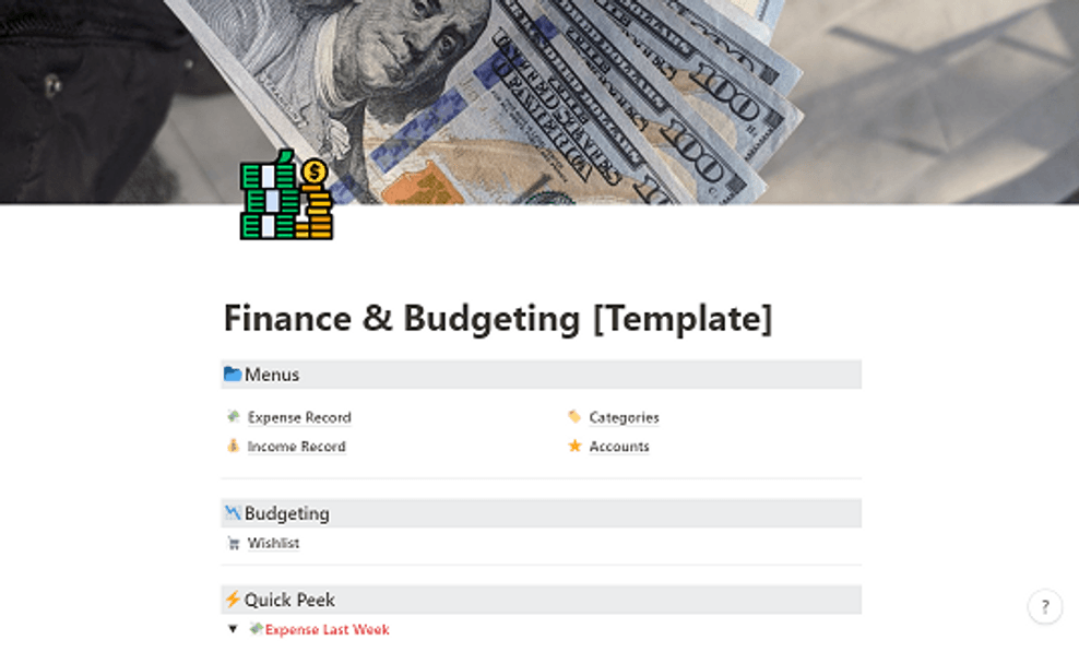 Finance and Budgeting Template