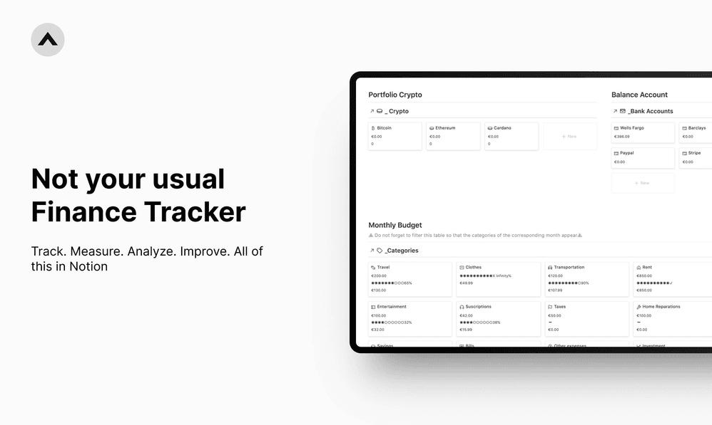 Finance & Crypto Tracker