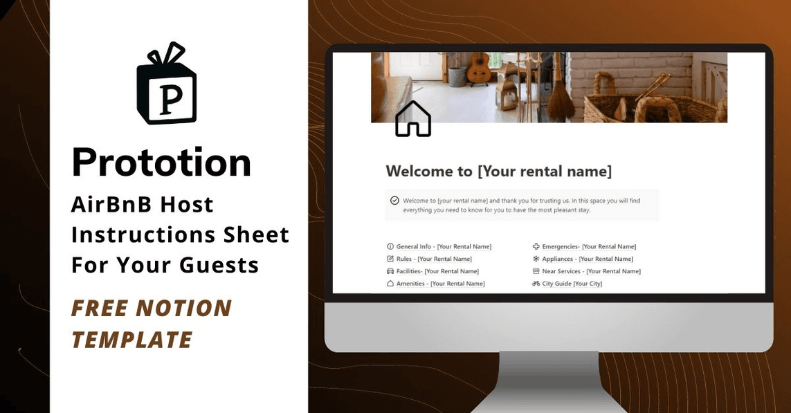 Airbnb Host Instructions Sheet Notion Template