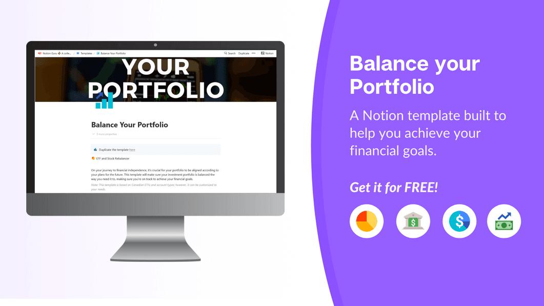 Balance your Portfolio