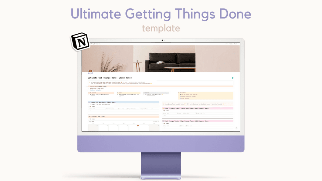 All In One GTD Notion Template
