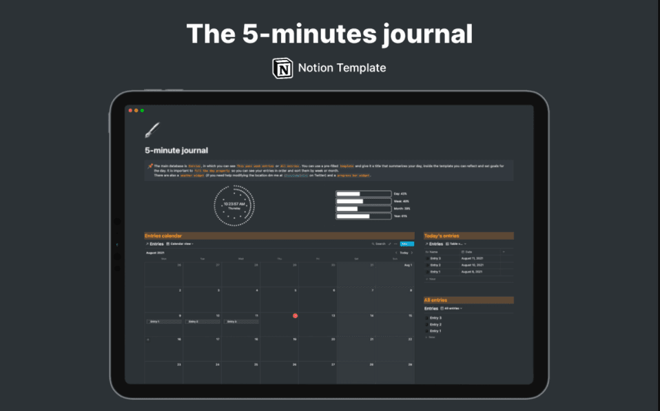 5-Minutes Journal